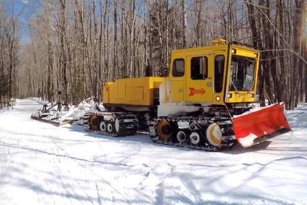 "Our Ultimate Groomer is the biggest and ""baddest"" piece of trail grooming equipment in Oconto County. Powered by a 300HP John Deere diesel it easily handles the hilly terrain west and south of Townsend. Give the operators a big ""thumbs up"" for the time they spend on the trail...usually over 500 hours per year."