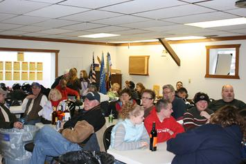 Part of the happy crowd at the 40th Anniversary Fish A Ree held at the Townsend Town Hall