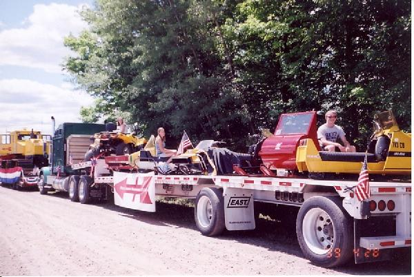 Red Arrow had a tractor trailer full of Vintage Sleds and a 3 wheeler ATV in the 2008 Townsend 4th of July Parade. We are celebrating our 40th Anniversary as a club this year.  Red Arrow Snowmobile Club was founded in the fall of 1968 and has served the Townsend and northern Doty area for all this time.