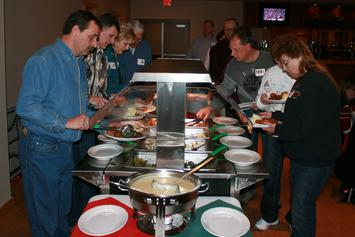 Members and guests enjoyed a great buffet style dinner served by the Waubee Lake Lodge staff